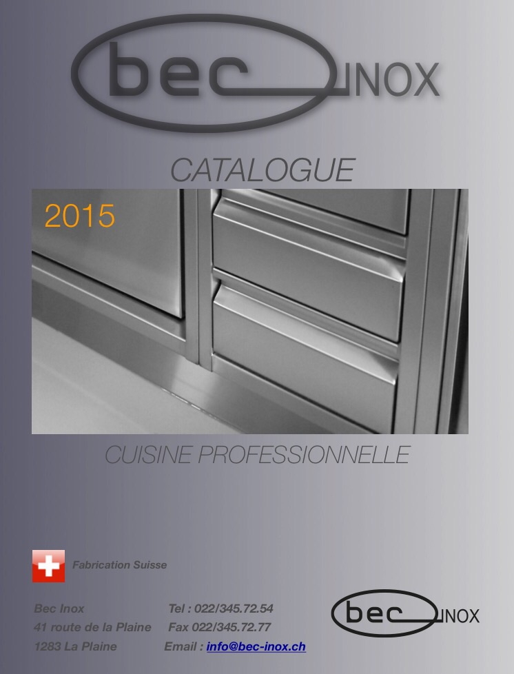 Catalogue bec Inox 2015